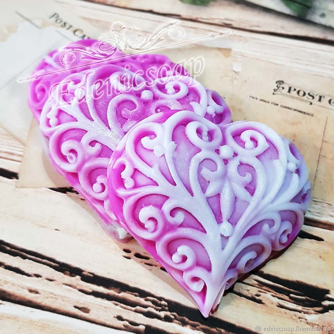 soap: ' Openwork heart ' souvenir gift wedding, Gifts, Moscow,  Фото №1