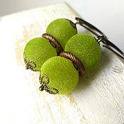 Украшения handmade. Livemaster - original item Earrings lime velvety. Handmade.