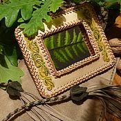 """Для дома и интерьера ручной работы. Ярмарка Мастеров - ручная работа Зеркало для путешествий """"Вечное цветение"""".. Handmade."""