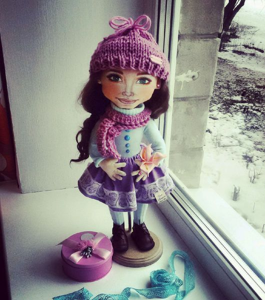 Коллекционные куклы ручной работы. Ярмарка Мастеров - ручная работа. Купить Текстильная интерьерная кукла Лиза. Handmade. кукла в подарок