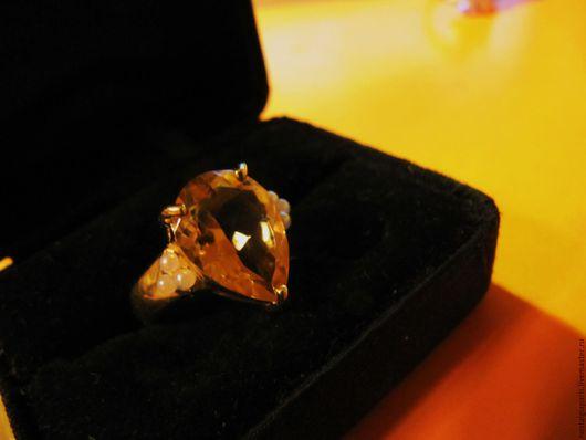 """Винтажные украшения. Ярмарка Мастеров - ручная работа. Купить Необычное кольцо """"  Природный цитрин"""". Handmade. Желтый, викторианский стиль"""