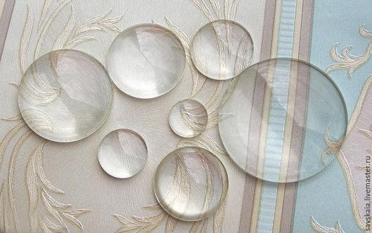 Молд силиконовый круглой линзы для кабошона