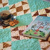 """Для дома и интерьера ручной работы. Ярмарка Мастеров - ручная работа покрывало лоскутное """"бирюзовое лето"""". Handmade."""