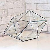 Вазы ручной работы. Ярмарка Мастеров - ручная работа Флорариум, террариум геометрический, форма кристалл. Handmade.
