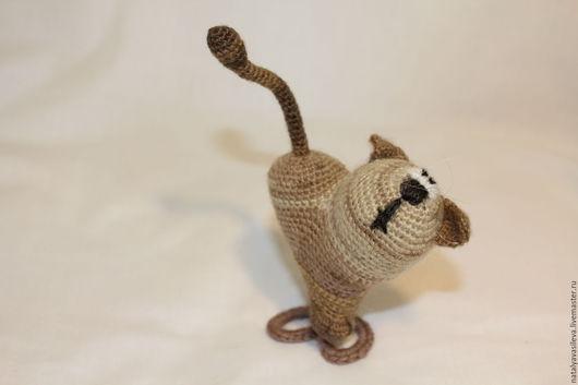 Игрушки животные, ручной работы. Ярмарка Мастеров - ручная работа. Купить Кот. Handmade. Комбинированный, вязанный, валентинка, подарок, перцева