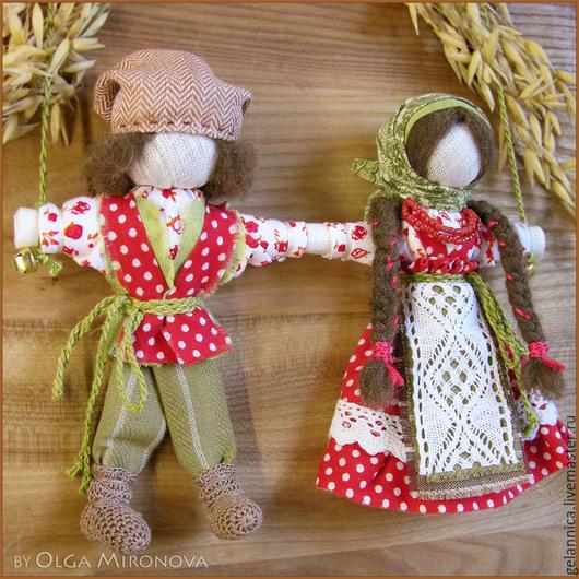 Народные куклы ручной работы. Ярмарка Мастеров - ручная работа. Купить Неразлучники. Handmade. Неразлучники, подарок на свадьбу, оберег
