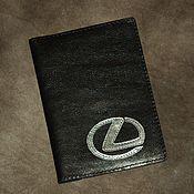Ложки ручной работы. Ярмарка Мастеров - ручная работа Обложка Lexus на документы из натуральной кожи со знаком. Handmade.