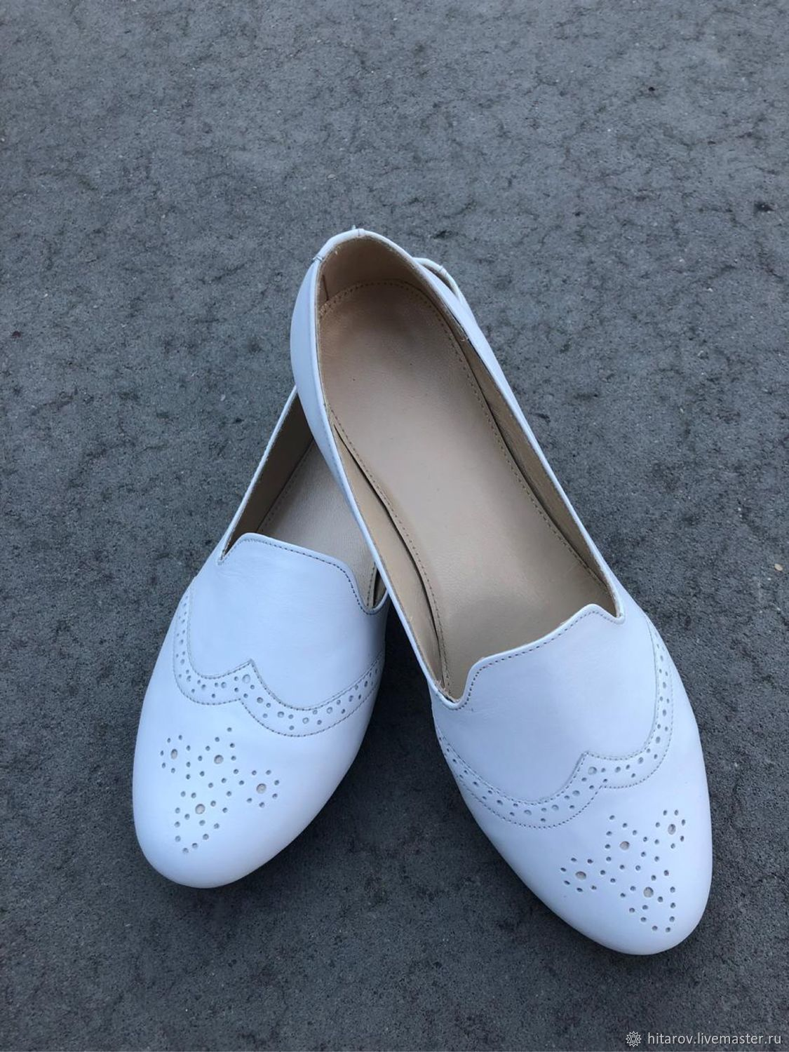 Ballet flats 'Anna' white, Ballet flats, Moscow,  Фото №1