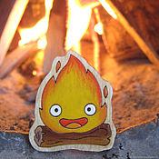 Украшения handmade. Livemaster - original item Calcifer Icon. Handmade.