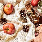Для дома и интерьера handmade. Livemaster - original item White knitted blanket