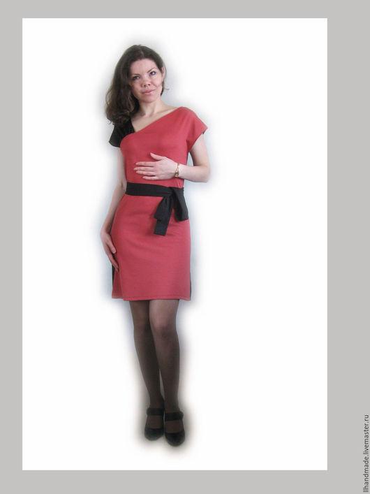 """Платья ручной работы. Ярмарка Мастеров - ручная работа. Купить Платье трикотажное """"Асимметрия"""". Handmade. Платье, платье для офиса"""