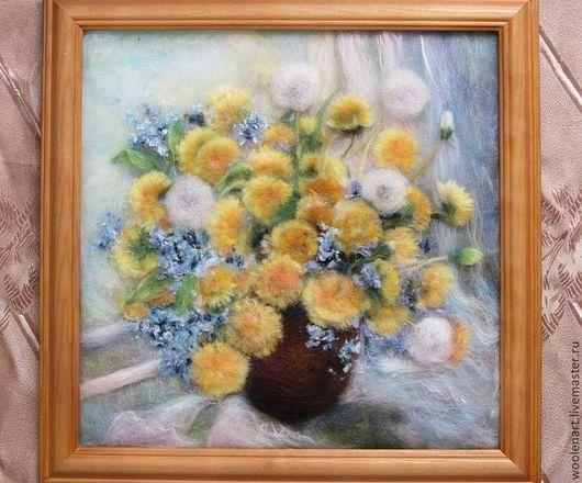 Картины цветов ручной работы. Ярмарка Мастеров - ручная работа. Купить Золото весны. Handmade. Картина, букет цветов