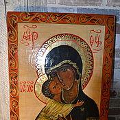 Icons handmade. Livemaster - original item the Vladimir icon of the mother of God. Handmade.
