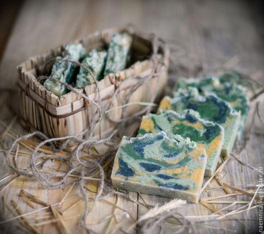 """Мыло ручной работы. Ярмарка Мастеров - ручная работа. Купить """"С мужским характером"""" натуральное мыло с нуля. Handmade. Хаки"""