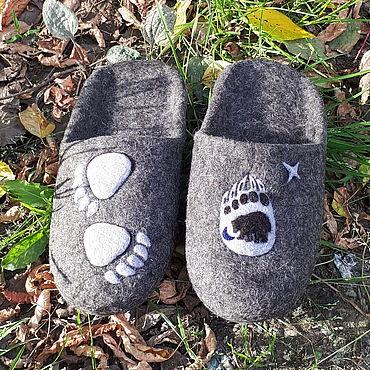 Обувь ручной работы. Ярмарка Мастеров - ручная работа Тапочки: Созвездие Медведица. Handmade.