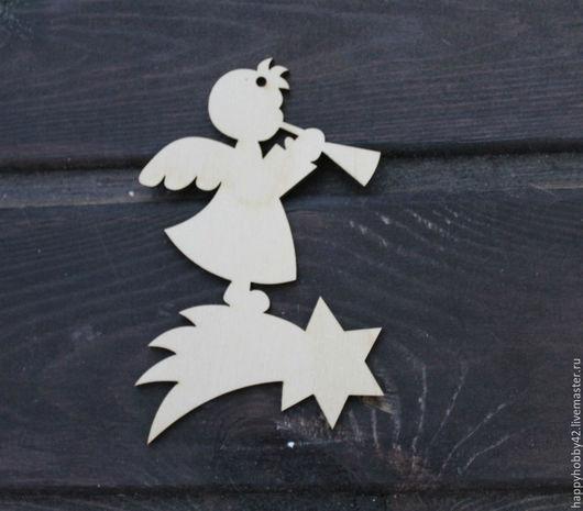 Декупаж и роспись ручной работы. Ярмарка Мастеров - ручная работа. Купить Ангел на звездочке заготовка деревянная. Handmade. Белый