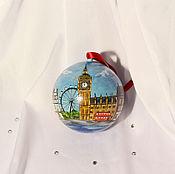 """Подарки к праздникам ручной работы. Ярмарка Мастеров - ручная работа Шарик """"Лондон"""". Handmade."""