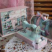 """Для дома и интерьера ручной работы. Ярмарка Мастеров - ручная работа Набор комод+детская швейная машинка """"Гламурный магазинчик мадам Иреты"""". Handmade."""