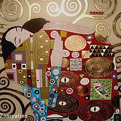 """Картины и панно ручной работы. Ярмарка Мастеров - ручная работа Картина по мотивам Г.Климта """" Упоение"""". Handmade."""