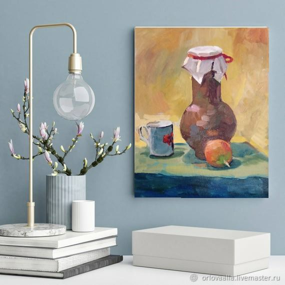 Oil Painting With A Jug Classic Still Life, Pictures, Samara,  Фото №1
