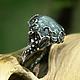 """Кольца ручной работы. Ярмарка Мастеров - ручная работа. Купить Серебряное кольцо с аквамарином """"Маричи"""". Handmade. Кольцо с камнем, цветы"""