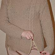 Одежда ручной работы. Ярмарка Мастеров - ручная работа джемпер  бежевый. Handmade.