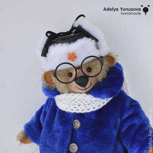 Мишки Тедди ручной работы. Ярмарка Мастеров - ручная работа. Купить мишка Илюшка. Handmade. Синий, медвежонок, зимний мишка