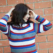 """Одежда ручной работы. Ярмарка Мастеров - ручная работа свитер """"фантазийная полоска"""". Handmade."""