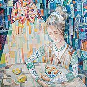 Картины и панно ручной работы. Ярмарка Мастеров - ручная работа Висмари и чай. Акварель.. Handmade.