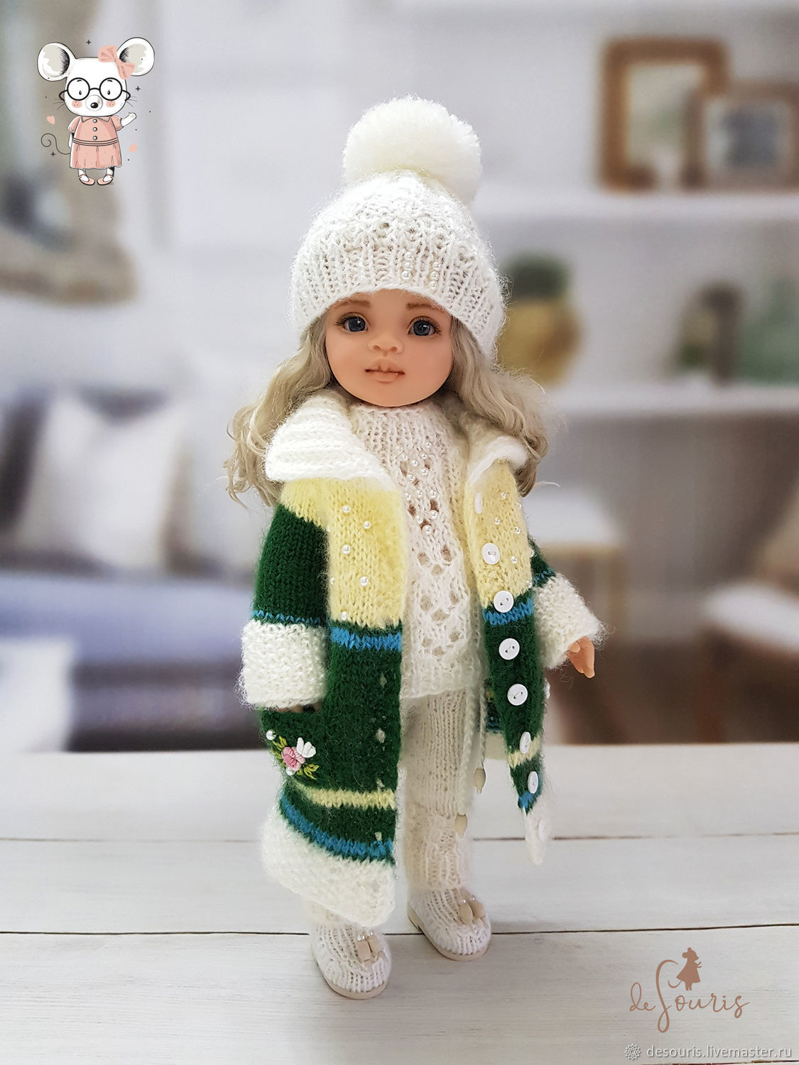 Clothes for Paola Reina dolls. Warm suit ' Tenderness', Clothes for dolls, Voronezh,  Фото №1