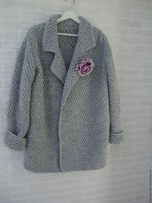Верхняя одежда ручной работы. Ярмарка Мастеров - ручная работа. Купить Пальто Иней. Handmade. Серебряный, пальто женское, шерсть