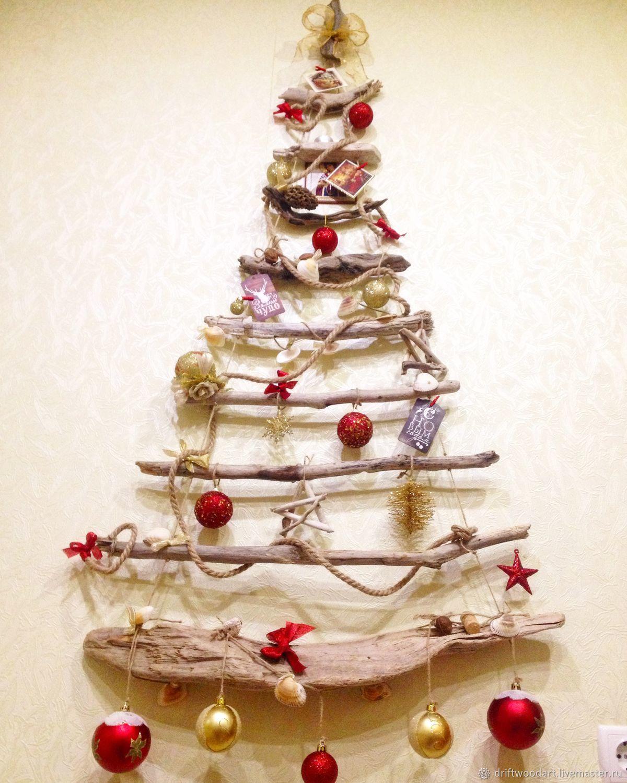 Wall Christmas Trees.Christmas Tree Wall Christmas Tree Driftwood Kupit Na Yarmarke Masterov Armojcom Elki Novorossiysk