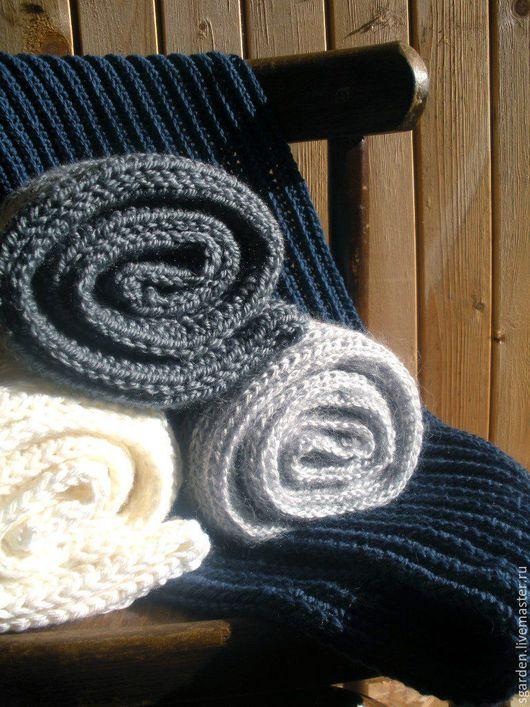Шарфы и шарфики ручной работы. Ярмарка Мастеров - ручная работа. Купить Шарф круговой. Handmade. Серый, снуд вязаный, зима