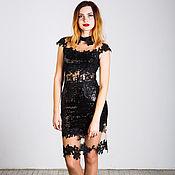 Одежда handmade. Livemaster - original item Black dress knee-length. Handmade.