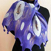 Материалы для творчества ручной работы. Ярмарка Мастеров - ручная работа Видео мастер-класс по валянию шарфа с мережками и кисточками – каплями. Handmade.