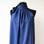 Топы ручной работы. Ярмарка Мастеров - ручная работа Топы: Топ с открытыми плечами темно-синего цвета. Handmade.