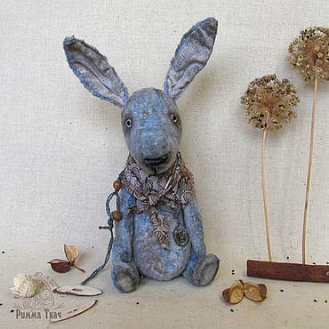 Куклы и игрушки ручной работы. Ярмарка Мастеров - ручная работа Тедди кролик дядюшка Филл. Handmade.