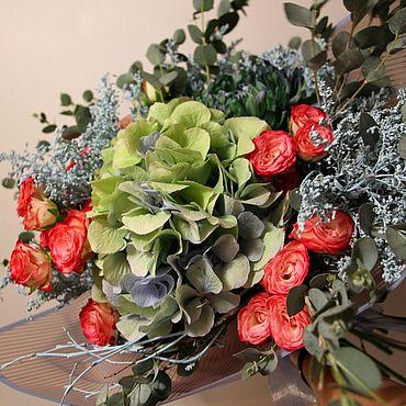 """Цветы и флористика ручной работы. Ярмарка Мастеров - ручная работа Букет """"Верена""""  Живые цветы. Handmade."""