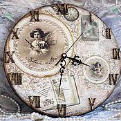 """Для дома и интерьера ручной работы. Ярмарка Мастеров - ручная работа Настенные часы """"Belive"""" декупаж. Handmade."""