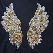 Материалы для творчества handmade. Livemaster - original item Embroidery on the Wings of a fuss. Handmade.