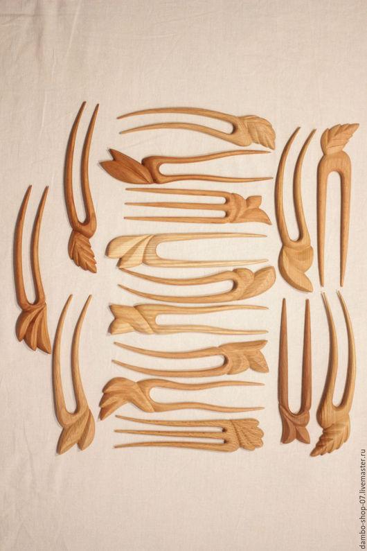Заколки ручной работы. Ярмарка Мастеров - ручная работа. Купить Заколка деревянная резная. Handmade. Заколка, для волос, ясень