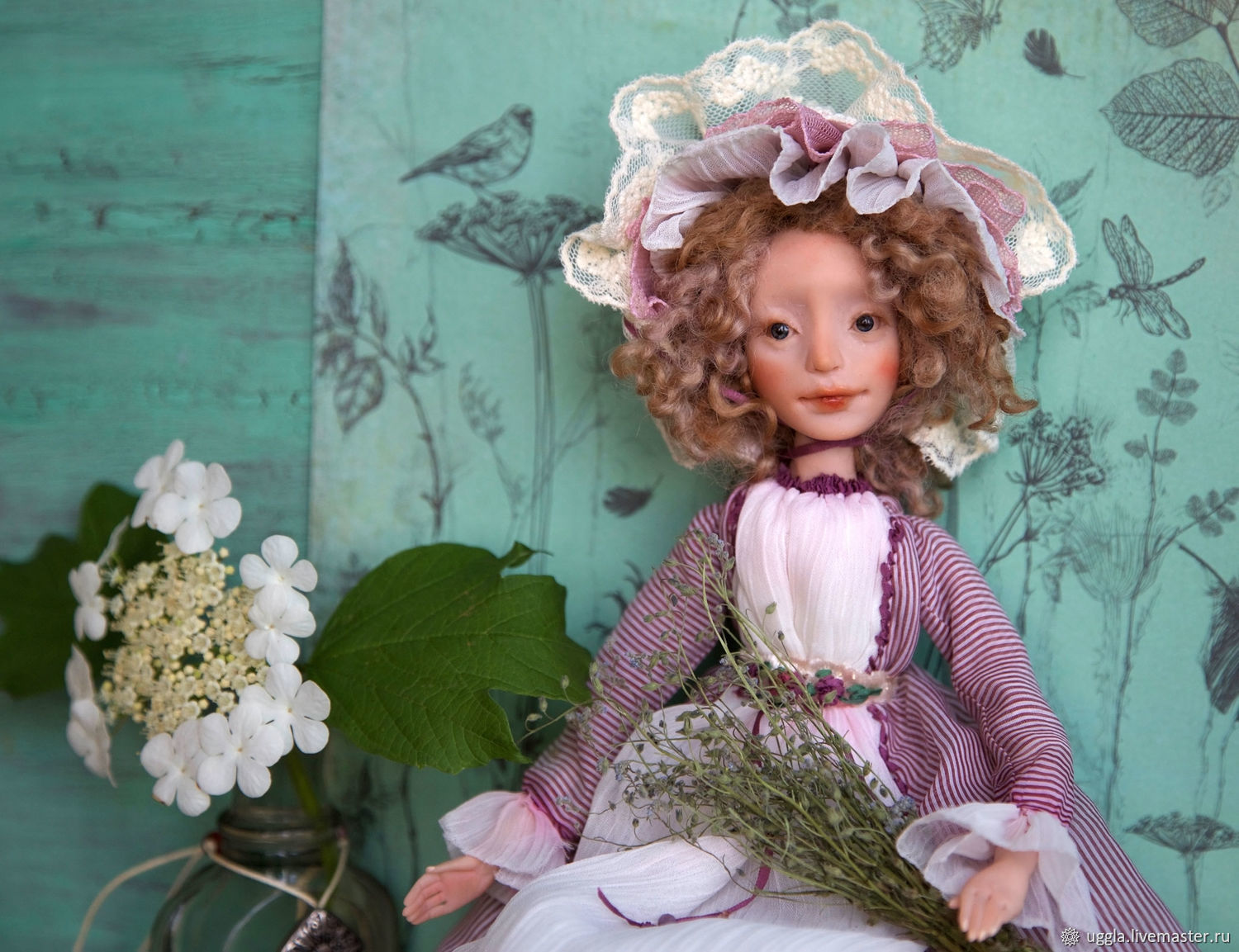 interior doll totally hand made OOAK Art Doll collectible art doll
