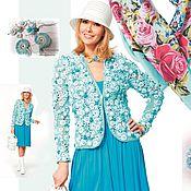 """Одежда ручной работы. Ярмарка Мастеров - ручная работа Жакет """"Фриформ цвета бирюзы"""". Handmade."""
