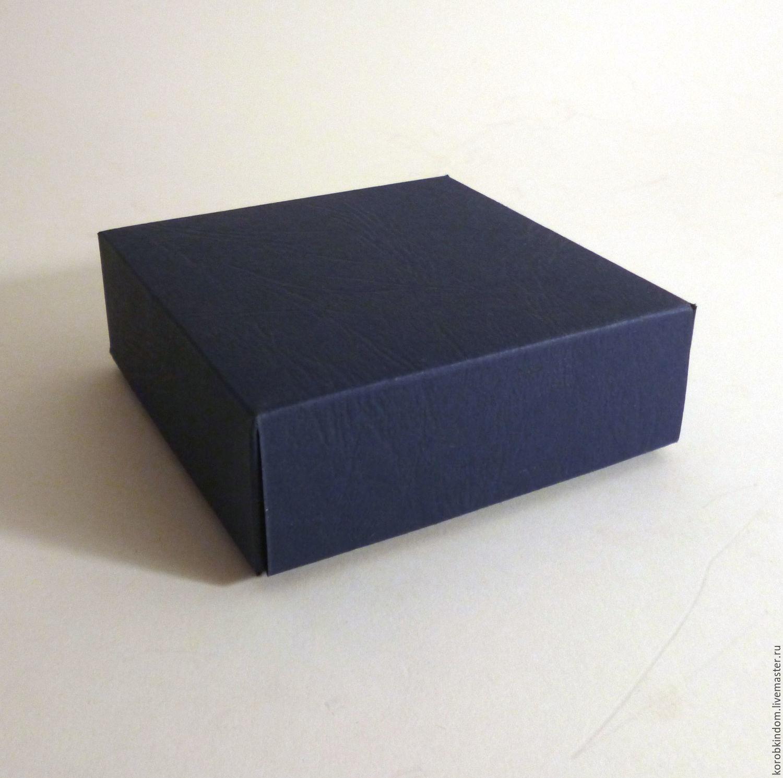 Упаковка: 8х8х3 - коробка синяя фактурная крышка-дно, Материалы для флористики, Санкт-Петербург, Фото №1