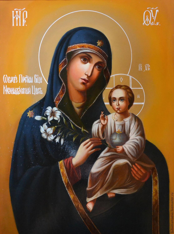 Фото иконы божьей матери с цветком