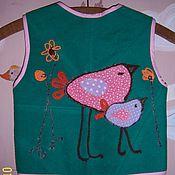 """Работы для детей, ручной работы. Ярмарка Мастеров - ручная работа Детский жилетик """"Птичка"""". Handmade."""