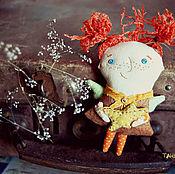 Украшения ручной работы. Ярмарка Мастеров - ручная работа Текстильная брошь - мурзилка Со звездочкой). Handmade.
