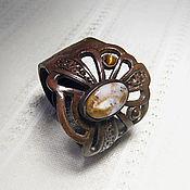 Украшения ручной работы. Ярмарка Мастеров - ручная работа Кожаный браслет трилистник. Handmade.
