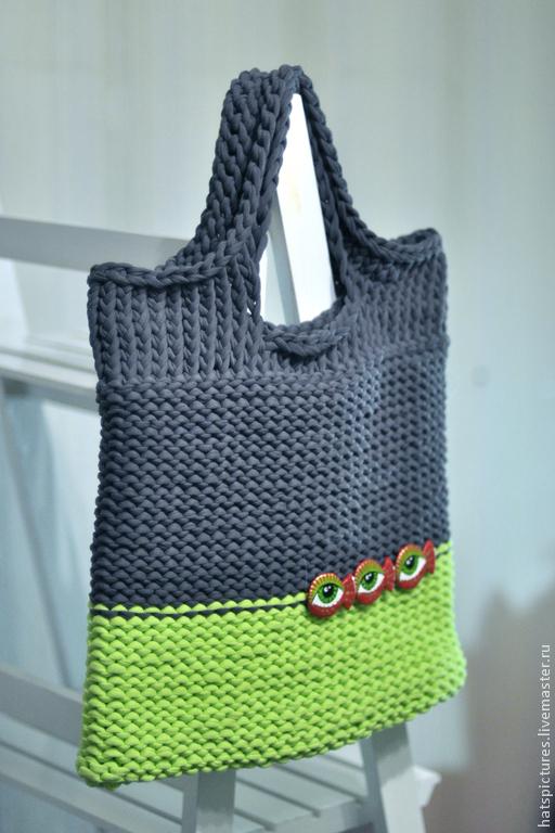 Женские сумки ручной работы. Ярмарка Мастеров - ручная работа. Купить Сумка-пакет с красными рыбами. Handmade. Разноцветный