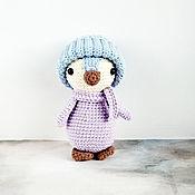 Куклы и игрушки handmade. Livemaster - original item Knitted penguin toy in scarf and hat. Handmade.